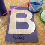 Letter B Activity: Bubble Painting