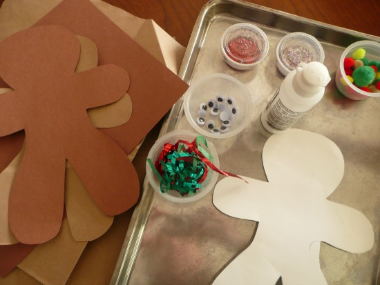 Gingerbread men art and craft project