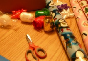 CHRISTMAS activities… present wrapping for kids