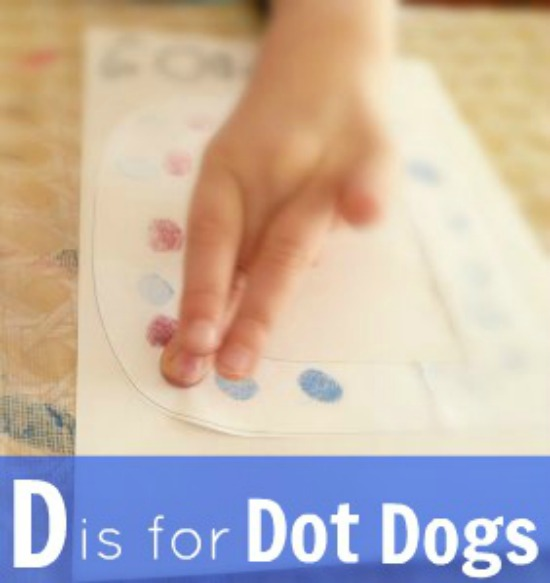 Letter D activity Dots into dogs