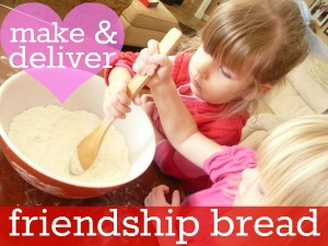 Making and delivering friendship bread. LOVE THIS!