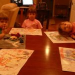FRIENDSCAPE play mats; an art activity that becomes a toy