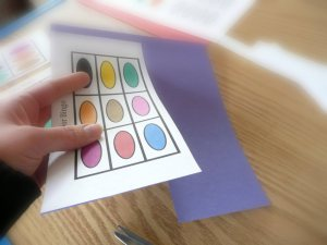 make your own COLOR BINGO game