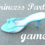 PRINCESS PARTY missing slipper game and royal crown activity