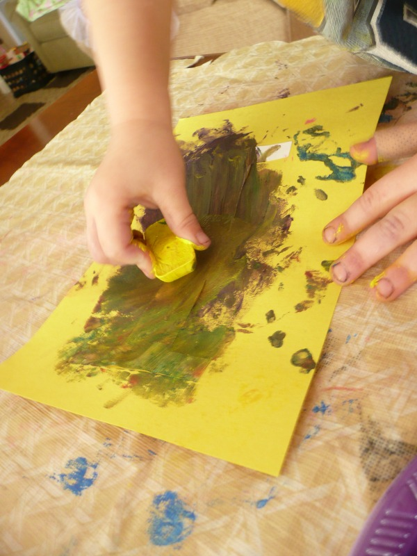 Letter I Activity - Ice Painting