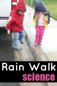 Rain Experiments for Kids: Flowing Objects