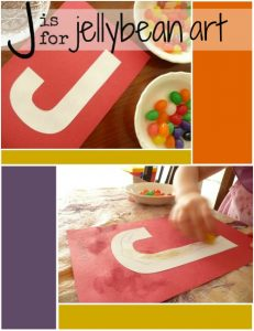 Letter J Activity: Jellybean Stain
