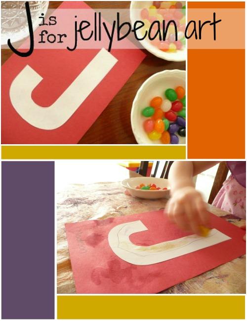 such a fun letter j activity - jellybean art!