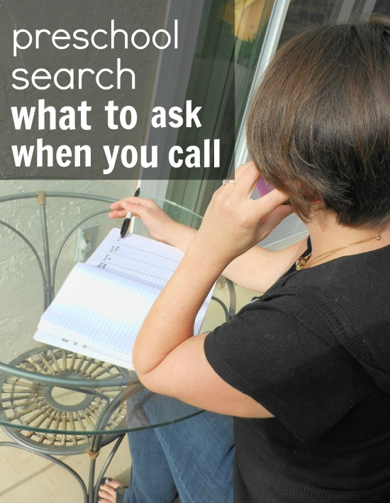 what to ask when searching preschools over the phone