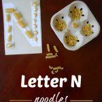 Letter N Activity: Gluing Noodles