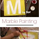 Letter M Activity: Marble Painting