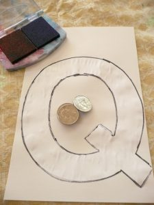 Letter of the week ~ Q ~ Quarter Stamping