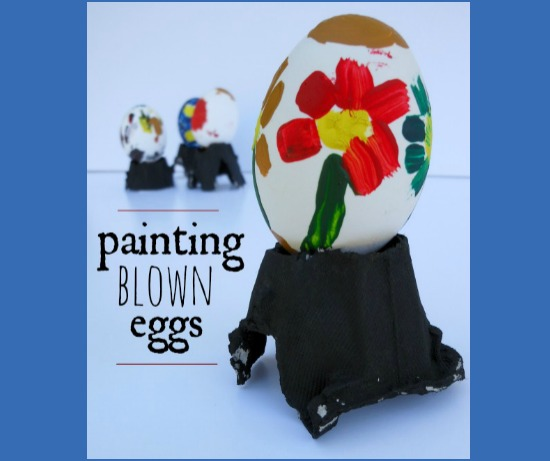 Beautiful egg painting for kids