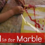 Letter of the Week ~ M ~ Marble Painting