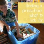 finding a preschool series. . .part 3