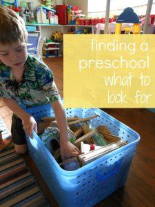 what to look for when choosing a preschool