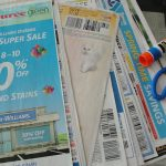cutting and gluing GROCERY coupons