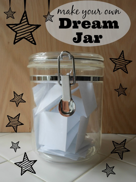 Make your dream jar... great way to empower kids to change bad dreams to good!