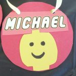 Lego party goodie bags and Lego pendant