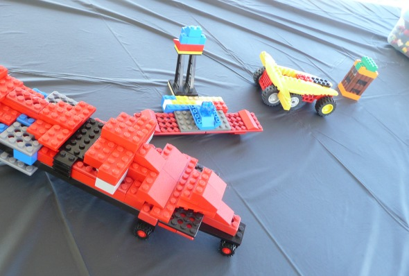 Simple Lego Party Decorations and Invitations. So easy I can throw a party together in no time!