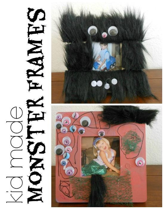 Easy Homemade Halloween Decoration - Monster Frames