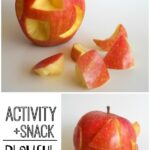 Snack + Activity = Apple Puzzle