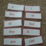SIGHT WORDS… a sight word train
