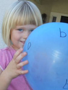 Letter of the Week ~  Letter B ~ Blue Balloon Bounce