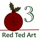 Creative Christmas Countdown… Day 3 Red Ted Art