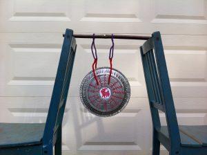 a smaller pie-tin gong