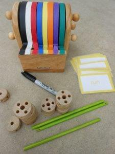 tinker toy SPELLING practice