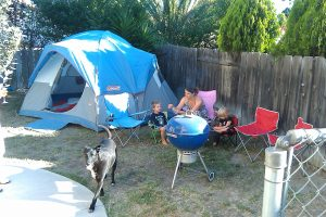 pretend play CAMPING