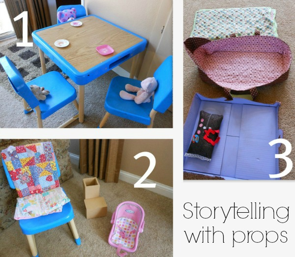 Goldilocks and the Three Bears -- love this storytelling with props idea! (2)