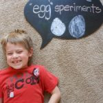 family Easter science day EGG EXPERIMENTS