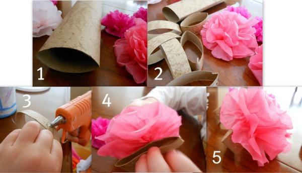 Easy flower making with tissue paper selol ink easy mightylinksfo