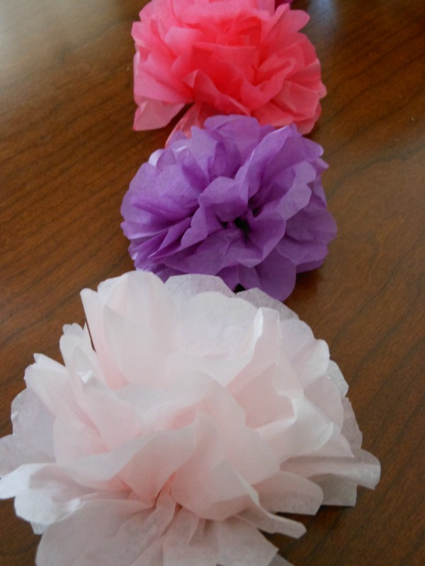 How to make tissue paper flowers napkin rings for a tea party super easy direction on how to make tissue paper flowers mightylinksfo