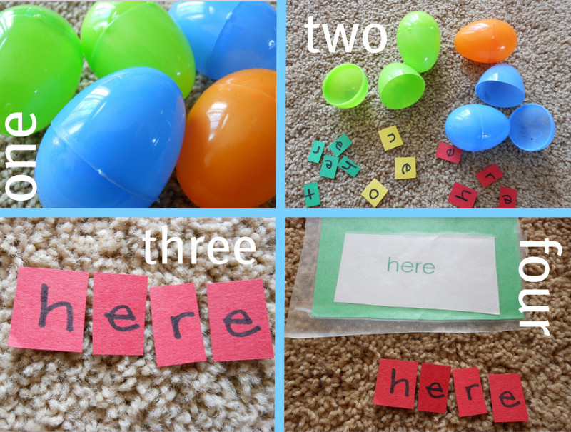 Easter Spelling Words Game - how fun!
