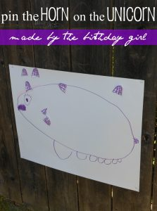 TEA PARTY… pin the horn on the unicorn and ribbon dancing