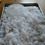 WEATHER sensory tray… pretend snow