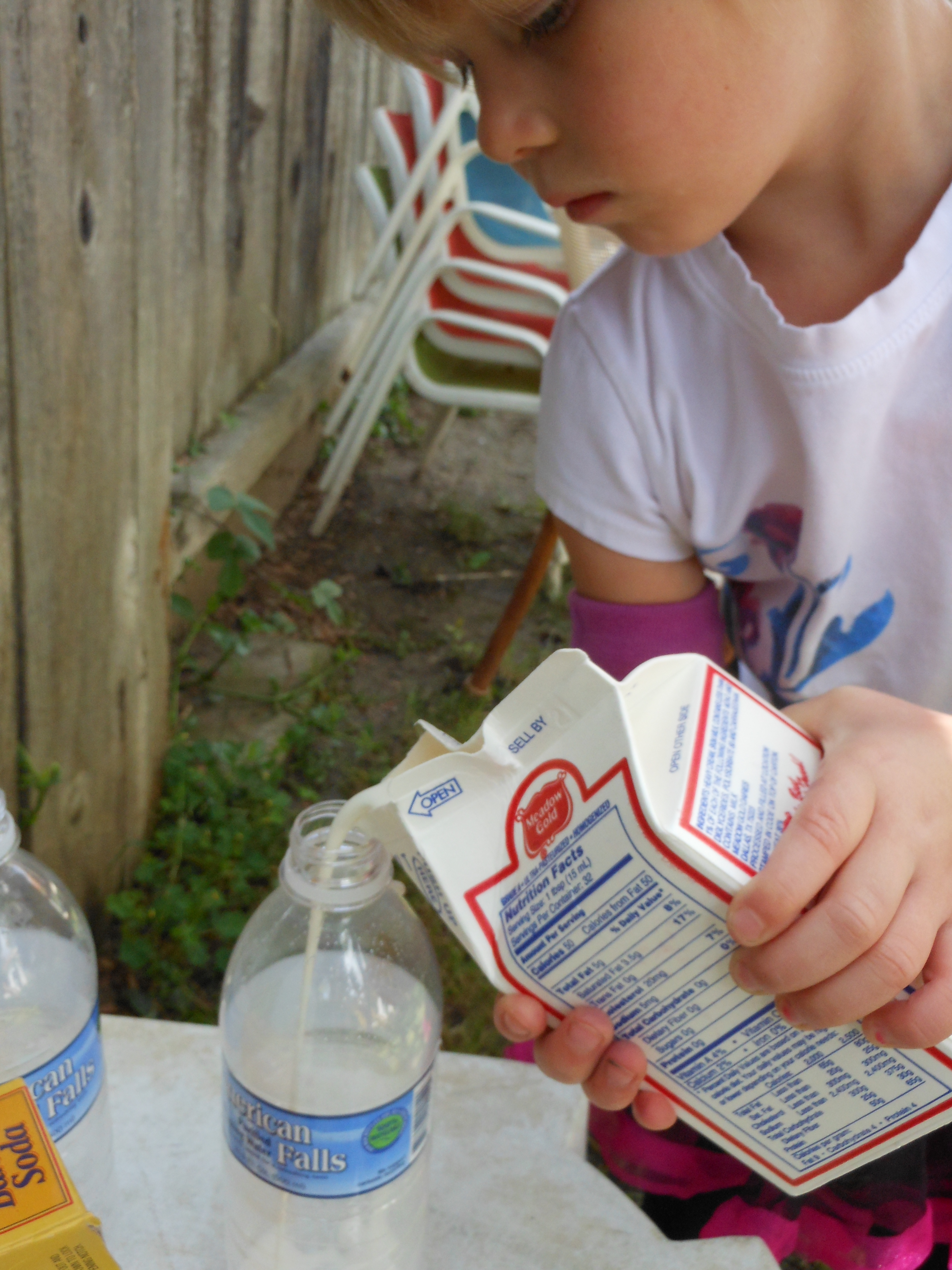 Worksheet Baking Soda Volcano Experiment easy backyard volcano little m added a some whipping cream to hers we wanted see if this would change the eruption our experiment was poorly executed because dont know