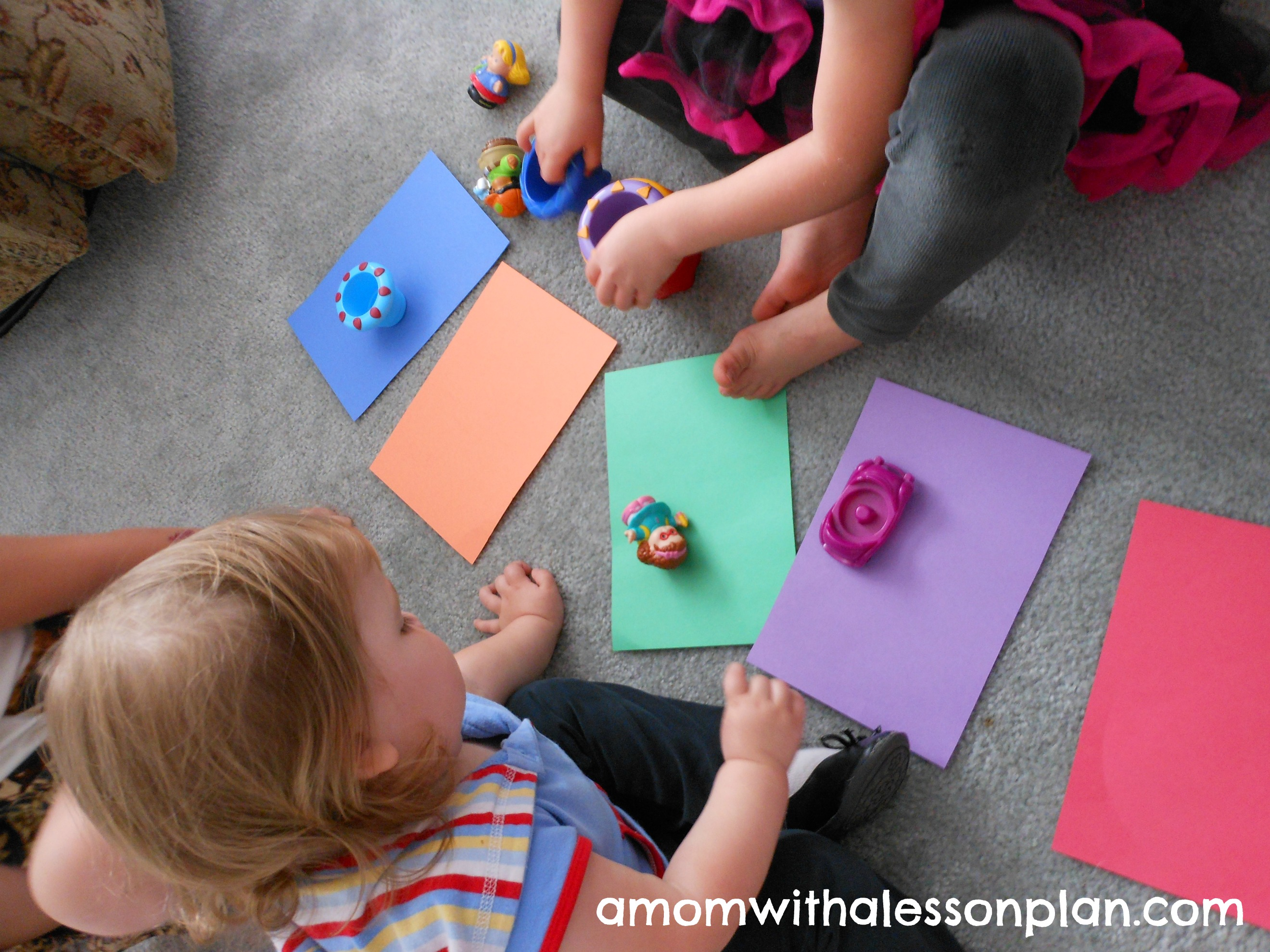 Activities for colors for toddlers -  Toddler Color Matching