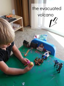 Volcano Pretend Play area p