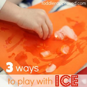Toddler Tuesday ~ Ice Play (3 ways)
