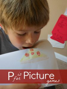 Letter of the Week ~ Letter P ~ Picture game
