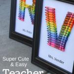 homemade teacher gift… how to make a crayon monogram