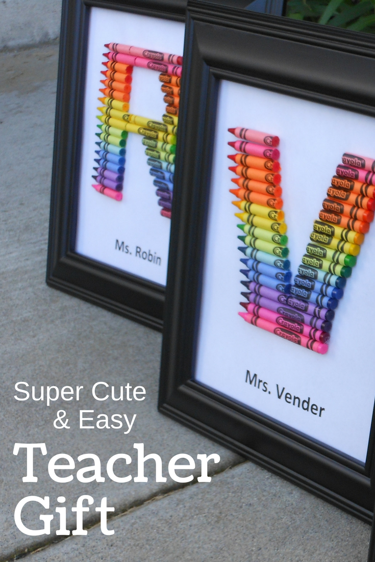 Homemade teacher gift how to make a crayon monogram cmp for Simple gifts to make