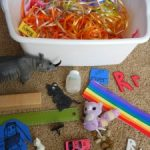 Letter of the Week ~ Letter R ~ Ribbon Sensory Bin