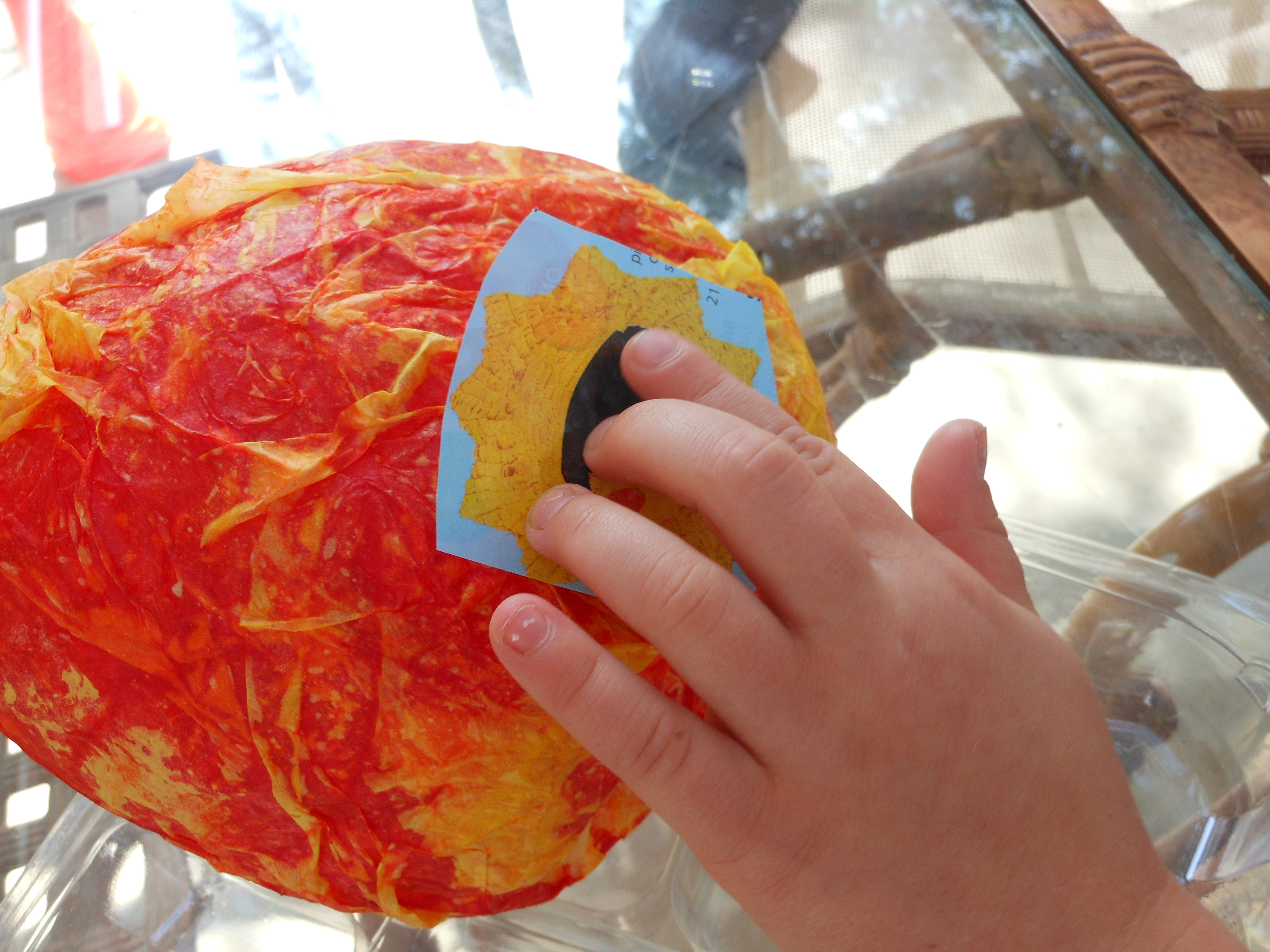 Letter of the week letter s paper mache sun