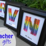 homemade teacher gift… how to make a crayon monogram