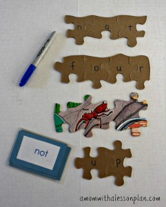 puzzle sight words